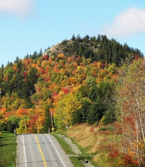 This is Haystack Mountain in the fall. Photo by Kelly McInnis